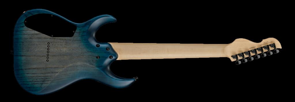 Body Back LCC-002 Poplar Burl Top Black Blue Burst