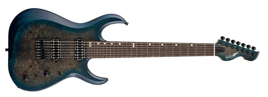 Body Top LCC-002 Madrone Top Black Blue Burst